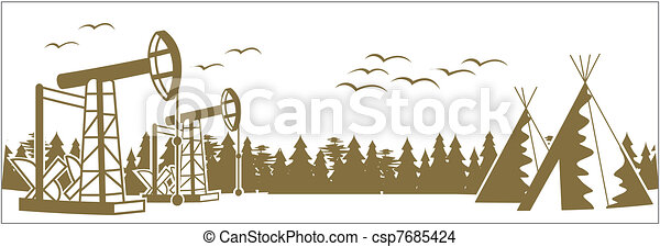 forest plague and oil pumping unit - csp7685424