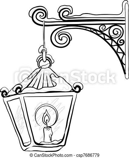 street light lamp with Antique Lantern Contour 7686779 on Dual Street Light Pole further Street Light Wiring Diagram also Old L  Vector 5113841 likewise Resources instructions  mercial flag poles besides Antique Lantern Contour 7686779.