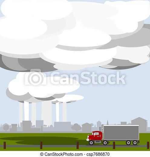 Rain in the distance  - csp7686870