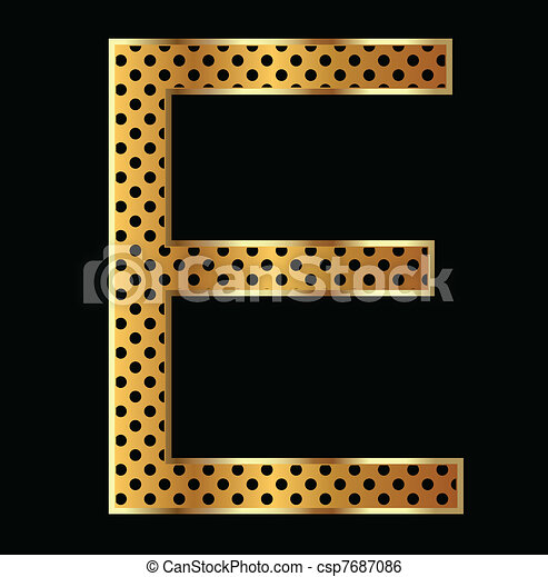 Letter E with tiger style - csp7687086