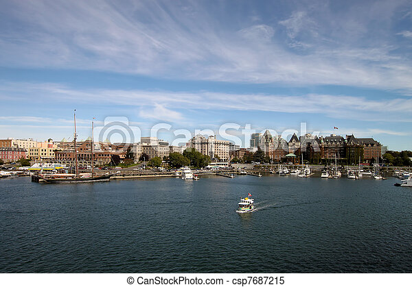 Victoria BC Inner Harbour City Skyline - csp7687215