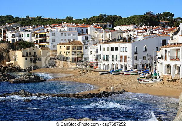 Calella de Palafrugell (Costa Brava, Spain) - csp7687252