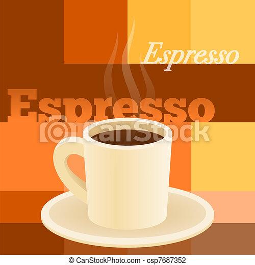 Cup Of Espresso - csp7687352