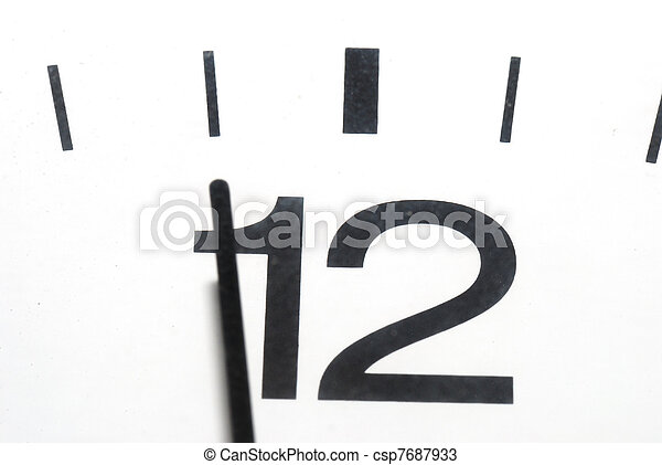 five to twelve clock in horizontal format - csp7687933