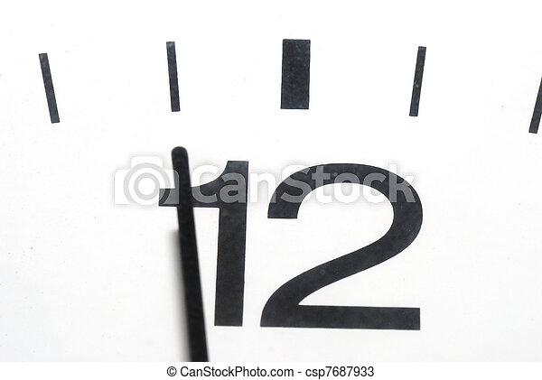 five to twelve clock in horizontal format - csp7687933