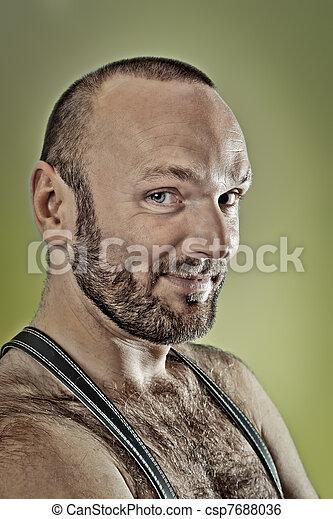 hairy man with beard - csp7688036