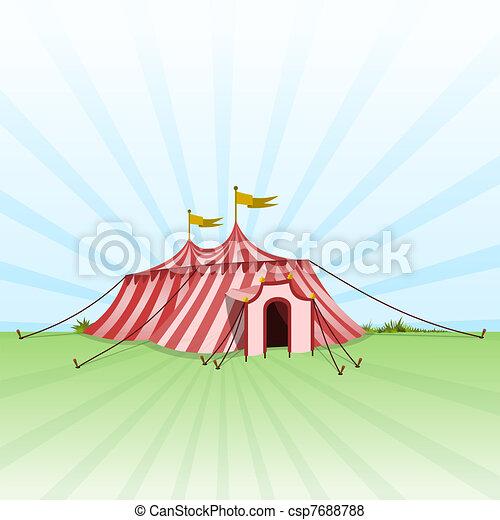 Circus Entertainment Tent - csp7688788