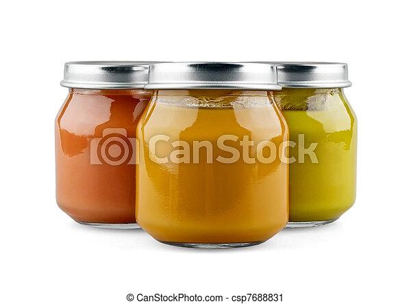 Three jars of baby food