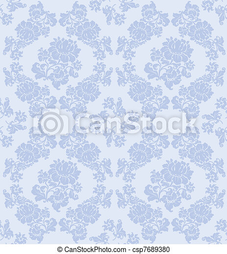 Seamless ornament floral vector - csp7689380