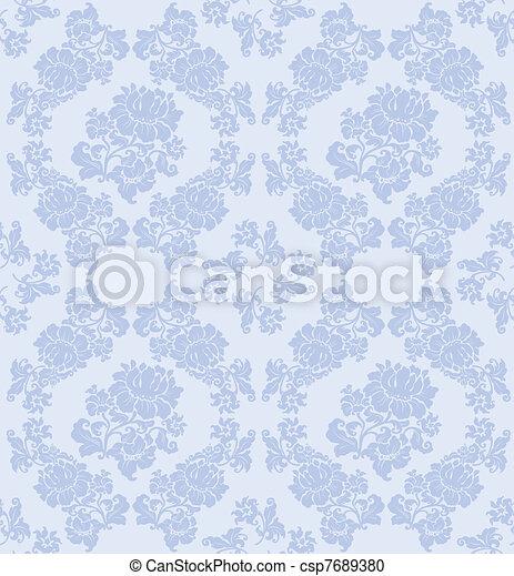 Seamless ornament floral vector - csp7689380