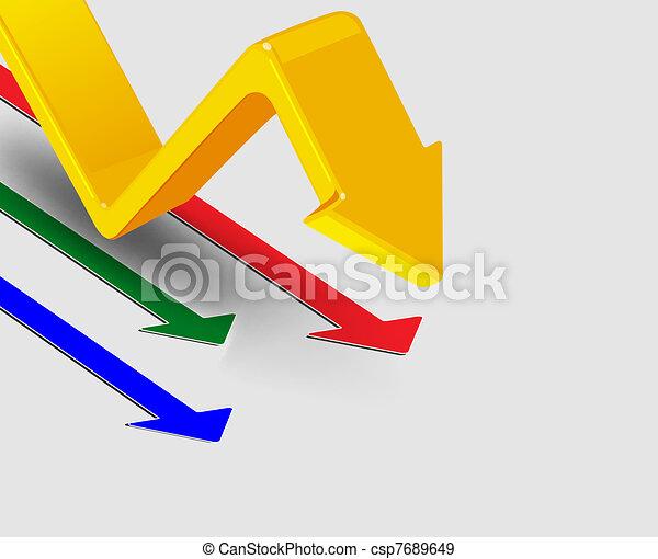 3d arrows, vector illustration - csp7689649