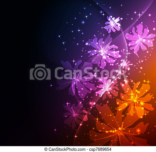 Abstract fantasy floral background  - csp7689654