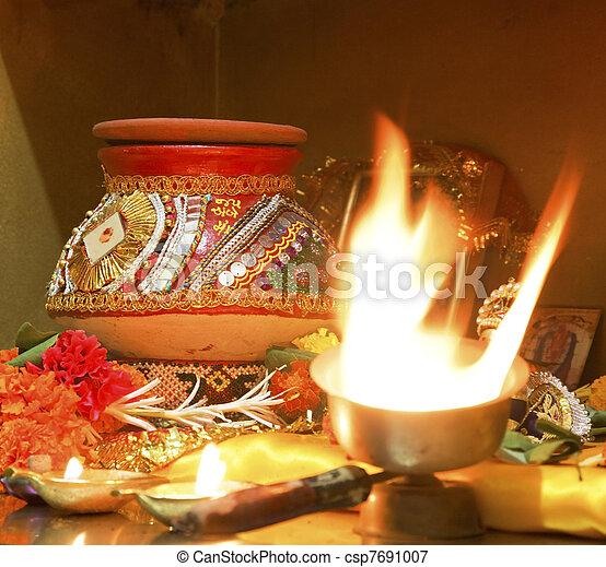 Navratri Hindu Hinduism religion religious even - csp7691007