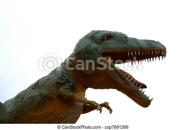dinosaur model of raptor carnivore - csp7691266