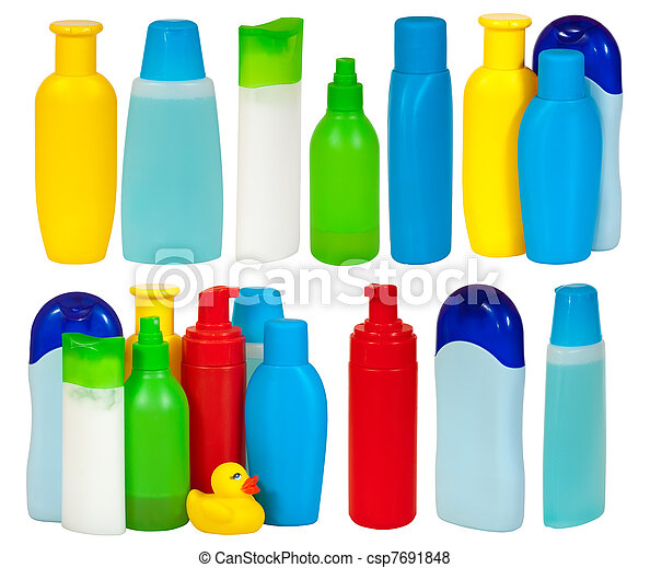 Set of  many toiletries bottle - csp7691848