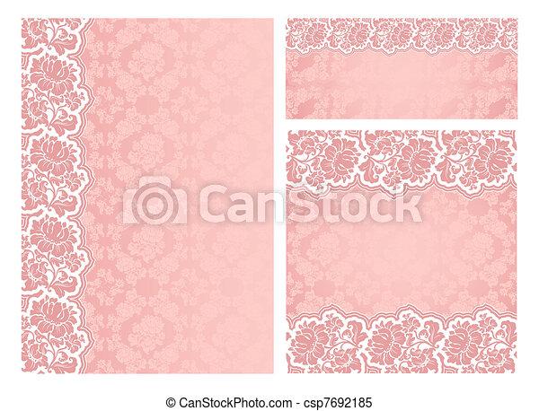 Set of ornate flowers vector frames - csp7692185