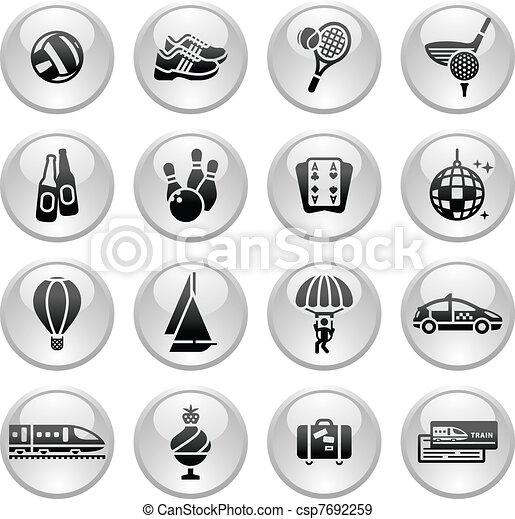 Recreation, Vacation & Travel, icon - csp7692259