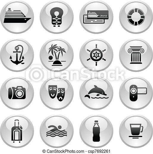 Travel, Vacation & Recreation, icon - csp7692261