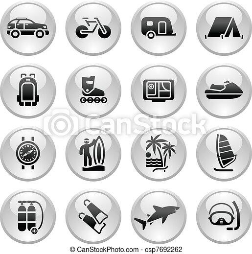Vacation, Recreation & Travel, icon - csp7692262