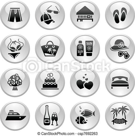 Vacation, Travel & Recreation, icon - csp7692263