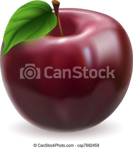 Red apple illustration - csp7692459