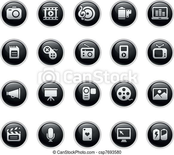 Multimedia Web Icons - csp7693580