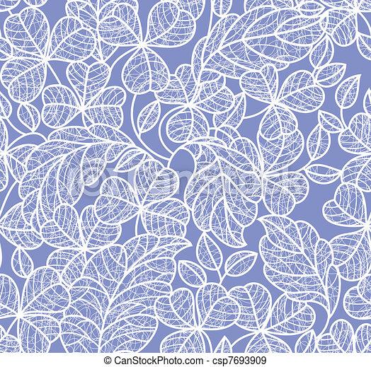vecteurs eps de feuille dentelle fond feuille fond seamless bleu csp7693909. Black Bedroom Furniture Sets. Home Design Ideas