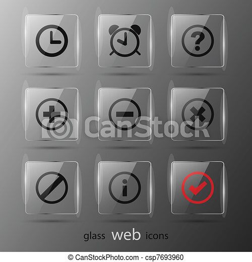 Set of web icons. Vector illustration. Eps 10 - csp7693960