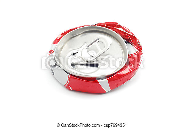 crushed soda can - csp7694351