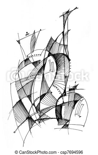 Abstract drawing  - csp7694596