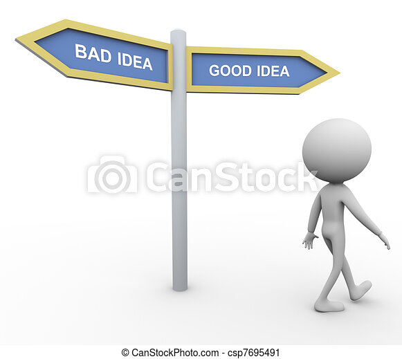 Bad idea good idea - csp7695491