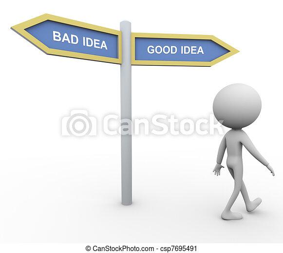 Bad idea good idea - csp7695491
