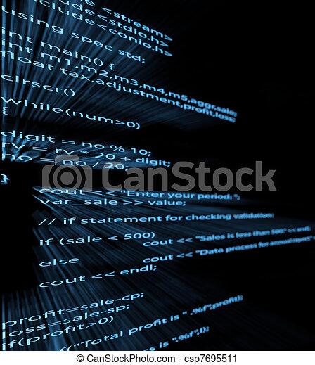 Computer program code - csp7695511