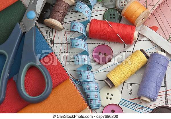 still life of spools of thread - csp7696200