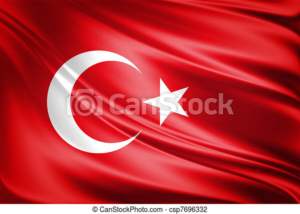 Turkey Flag - csp7696332