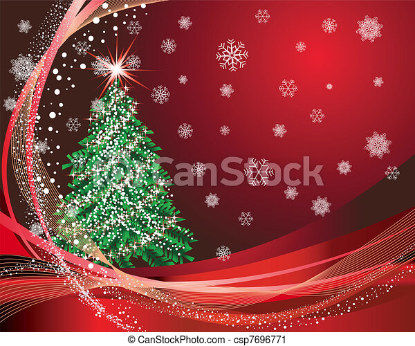 Christmas (New Year) card - csp7696771
