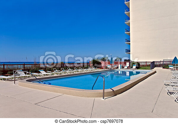 Large Swimming Pool Outside - csp7697078