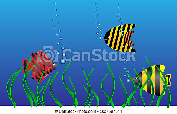 Sea Algae Drawing Sea Life Csp7697541