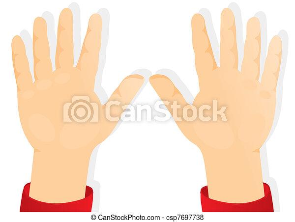 children's hands, palms forward - csp7697738