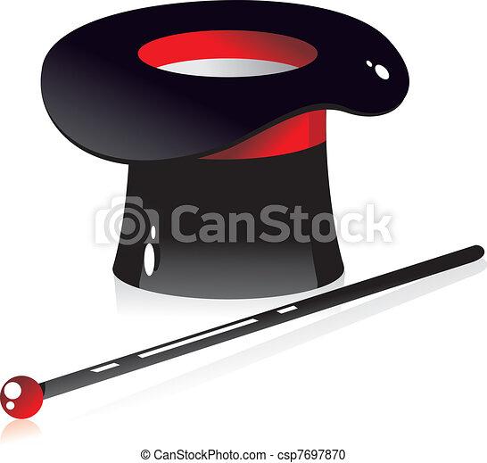 silk hat illusionist - csp7697870