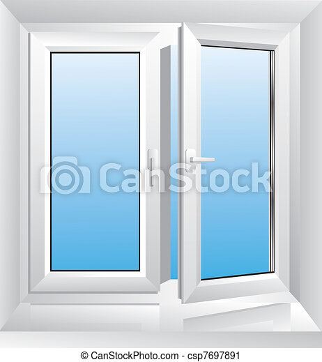 white plastic window - csp7697891