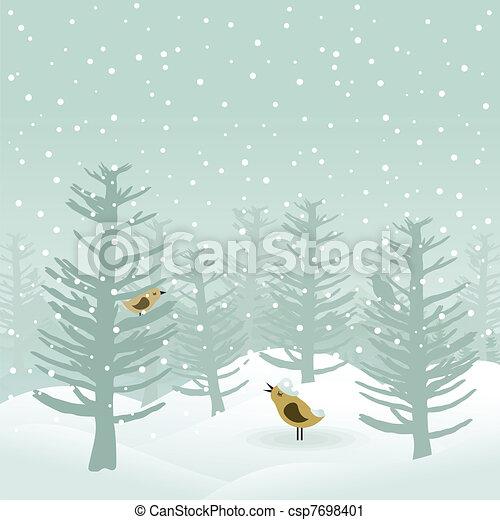 Winter wood2 - csp7698401
