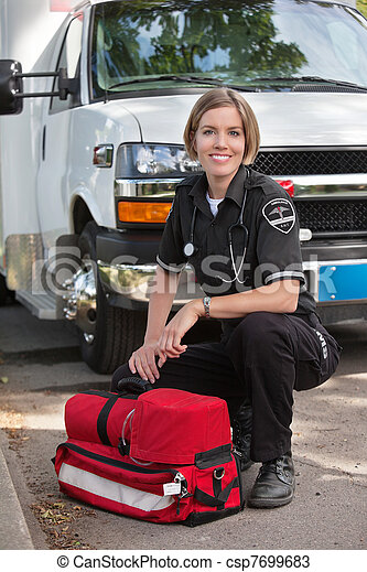 Happy Paramedic Portrait - csp7699683