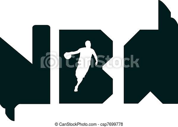 Nba typography - csp7699778