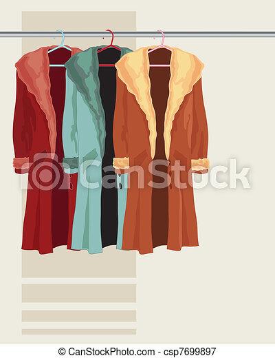 coat on a hanger - csp7699897