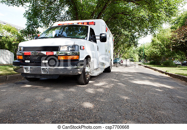 Ambulance in Residential Area - csp7700668