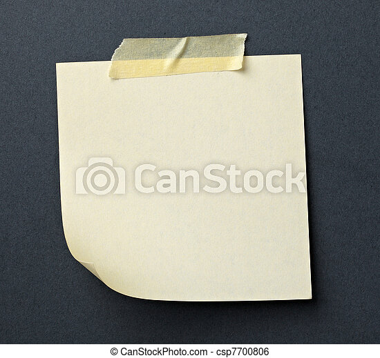 note paper with adhesive tape message  - csp7700806