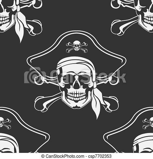 Seamless Cheerful Roger's emblem - csp7702353