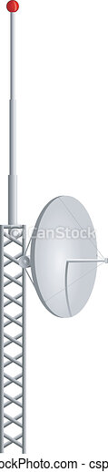 Vector illustration of mobile antennas - csp7703917