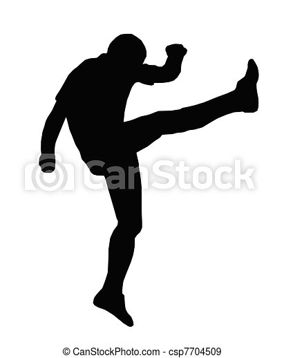 Sport Silhouette - Rugby Football Up and Under Kicker - csp7704509